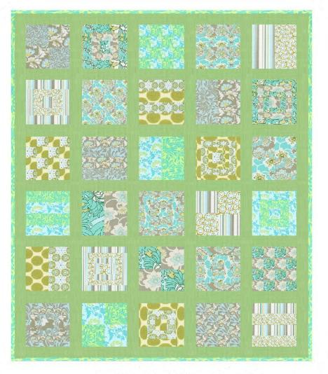 Green Sashing (Amy Butler Solids)